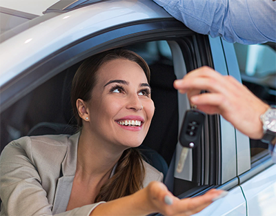 Happy car owner was rescued by one of our mobile locksmiths when she accidentally locked her keys in her car.
