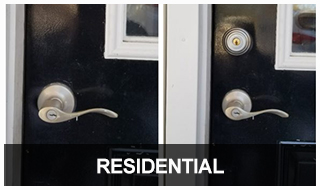 Image of a residential door and lock set
